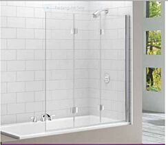 Merlyn MB9 Three Panel Folding 8mm Bath Screen - 1400W x 1500H