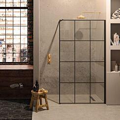 Matki-One Black or White Framed Wet Room Panel with Wall Brace