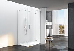Merlyn 6 Series Frameless Hinge Door & Inline for Side Panel with Tray