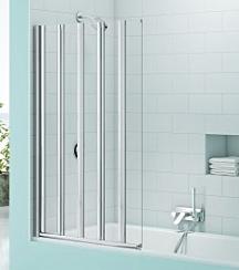 Merlyn MS5 SecureSeal Five Panel Folding Bath Screen 6mm 1000W x 1500H