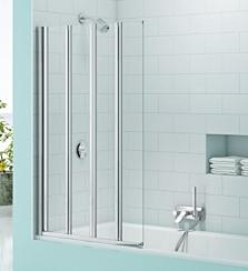 Merlyn MS4 SecureSeal Four Panel Folding Bath Screen 6mm 800W x 1500H