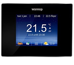 Warmup 4iE Smart WiFi Programmable Touchscreen Thermostat - Onxy Black