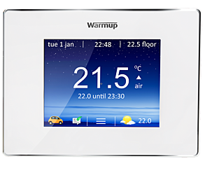 Warmup 4iE Smart WiFi Programmable Touchscreen Thermostat - Bright Porcelain