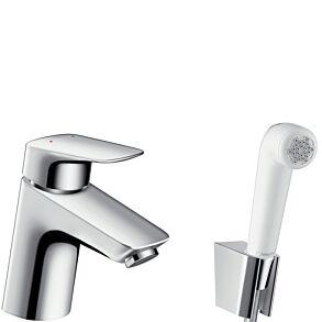 Hansgrohe Logis Bidet 1jet Hand Shower/Single Lever Basin Mixer Set 1.60 m