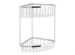 Vado Large Double Triangular Corner Basket with Integral Hook BAS-2004-C/P
