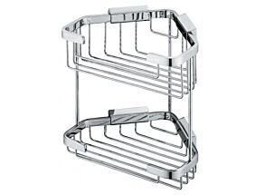 Vado Medium Double Triangular Corner Basket Wall Mounted BAS-2013-C/P