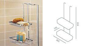 Impey Hanging Double Basket IG253-000