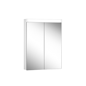 Schneider Low Line Plus LED 600mm  2 Door Mirror Cabinet